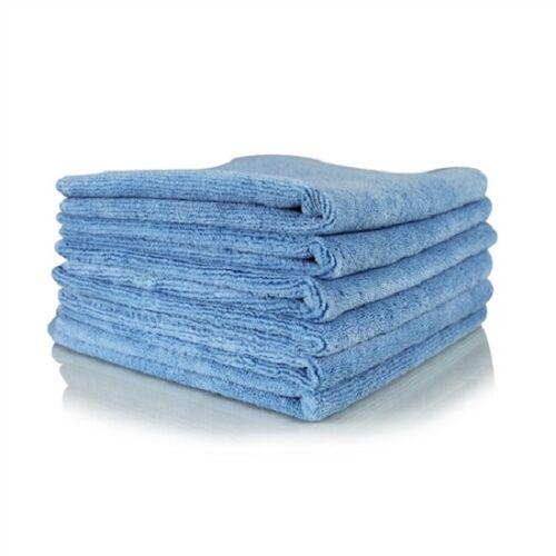 24 new blue irregular microfiber towels cleaning plush 16x16 300 gsm lint free
