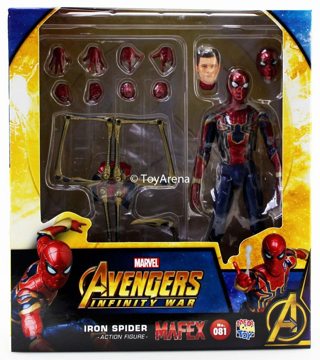 Mafex No. 081 Avengers Infinity War Iron Spider uomo cifra Medicom