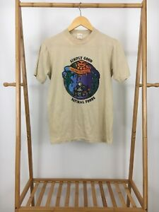 VTG-70s-Sportswear-Men-039-s-Simply-Good-Natural-Foods-Thin-50-50-T-Shirt-Size-M-USA
