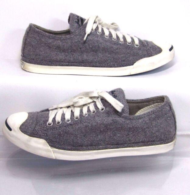 2fe96af0b2c5 Converse Jack Purcell LP Gray Compacted Wool Sneaker US Women 10 Minimal  Wear