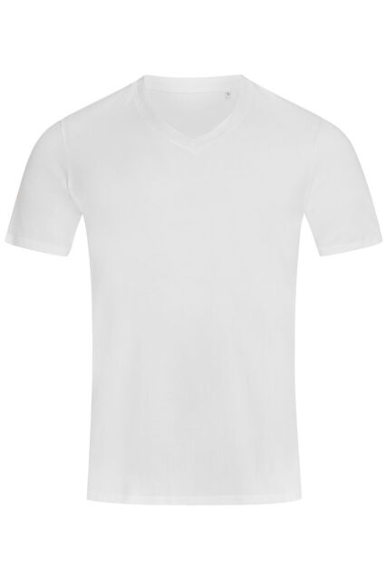 Mens Plain BLACK GREY or WHITE Cotton Deep Low Vee V-Neck Tee T-Shirt T Shirt
