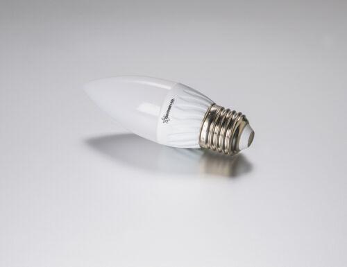 LED Kerze 6 Watt 500 Lumen Sockel E27 kaltweiss hohe Energie Ersparnis #6580