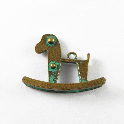 Zinc Alloy Jewelry Making Antiqued Bronze Cute Trojan Shape Pendants Charms 5pcs