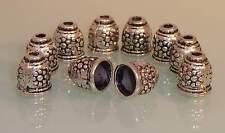 ♥ Perlenkappen Endkappen groß 10x11mm silber 10 Stk ♥ Z040