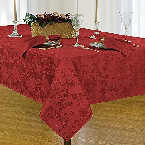 Vintage Christmas Tablecloth 70 Inch Round Genuine Rarest Special Holiday Red For Sale Online Ebay