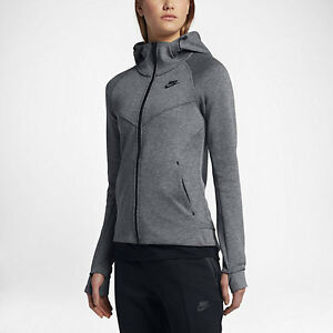 b6179752ae89 New Women s Nike Tech Fleece Full-Zip Hoodie  842845-092  Carbon ...