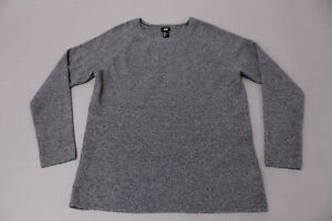 Details about H&M Men's Long Sleeve Solid Knit Crew Neck Pullover Sweater SC4 Grey Medium