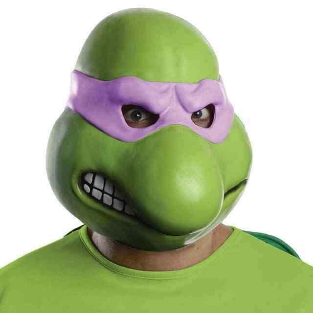 Adult Sized Teenage Mutant Ninja Turtles Vinyl Donatello Mask Costume Accessory For Sale Online Ebay