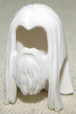 LEGO NEW GANDALF THE WHITE BEARD LORD OF THE RINGS MINIFIGURE HAIR WIG PIECE