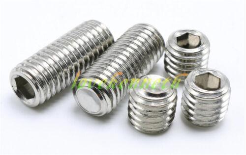 50//100pcs M2 M2.5 Stainless Steel Cup-End Headless Grub Hex Socket Tighten Screw