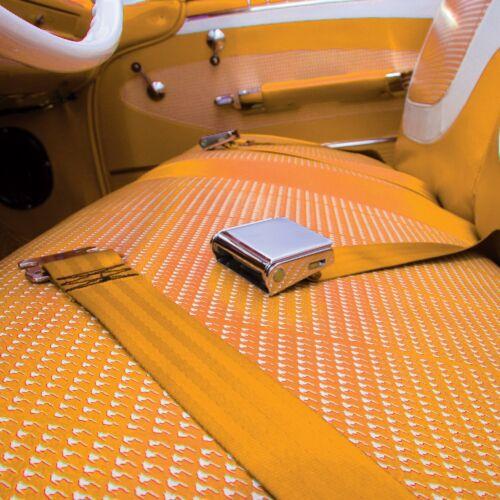 2pt Golden rod Retractable Airplane Buckle Lap Seat Belt w// Anchor Hardware Car