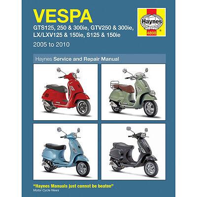 vespa manuals products in haynes diy motorcycle repair manuals rh ebay co uk vespa px 200 service manual vespa px owners manual