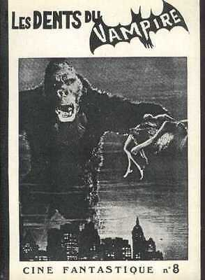 LES DENTS DU VAMPIRE 8 KING KONG PLANET OF THE APES P.O.A Monster French Fanzine
