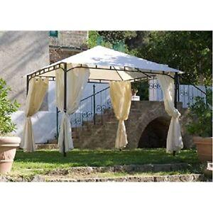 Tende Per Esterni Gazebo.Gazebo 3x3 Impermeabile Rodi Tende Colore Ecru Giardino Villa