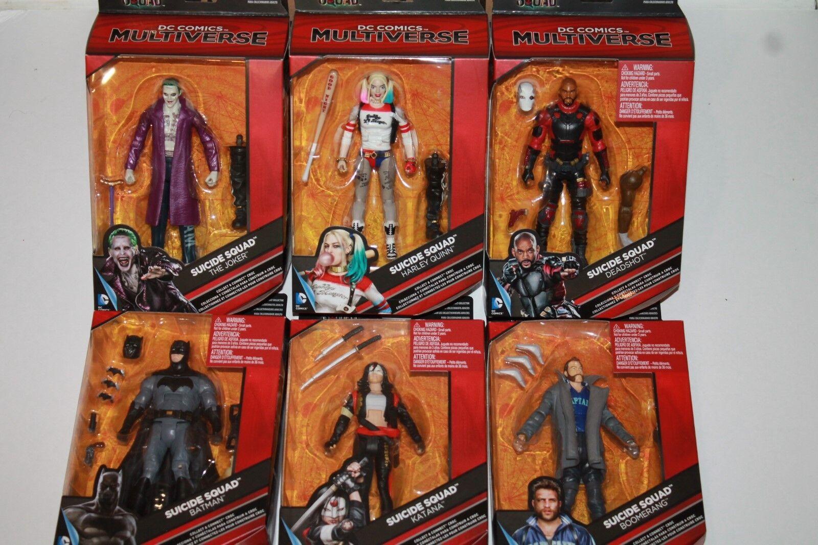 D.C COMICS MULTIVERSE SUICIDE SQUAD  SET OF 6 azione cifraS nuovo Harley, Joker,  più economico