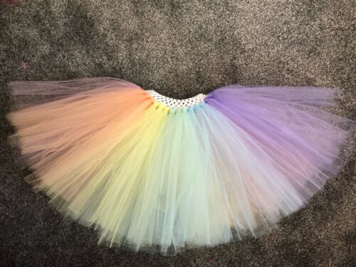 Multicoloured Rainbow Mermaid Unicorn Cake Smash Tutu Skirt Age 0-10 Years