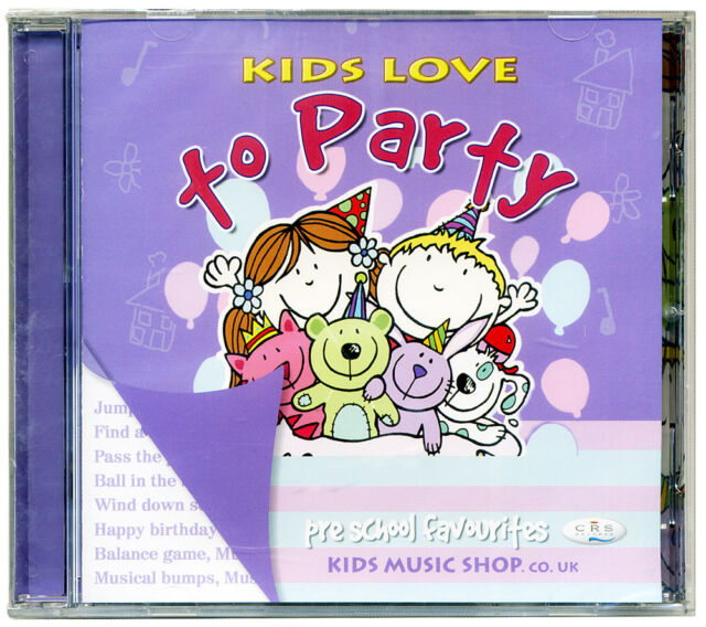 Kids Love to Party CD Party games for young kids  NEW & WRAPPED from PUBLISHER