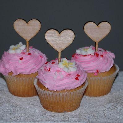Wedding Birthday Aniversary Cupcakes Love Heart Cupcake Topper Packet of 6