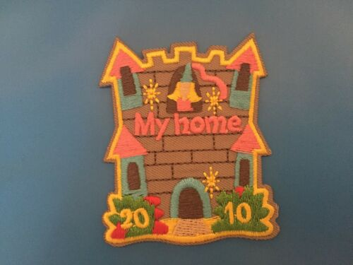 Sunny patch peace iron on patch My home Embroidered patch house Home patch