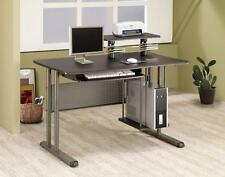coaster shape home office computer desk. Computer Desk W/CD Slots Coaster Home Office Furniture Black Finish Contemporary Shape .