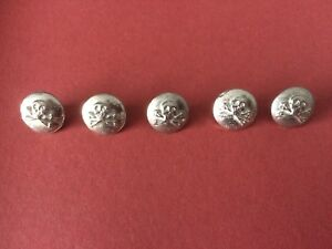 - Re-Enactment Living History Costume 5 Pack 10mm Full Ball Pewter Buttons