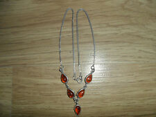 925,STERLING SILVER AMBER NECKLACE/NECKCHAIN, 5.80,GMS,