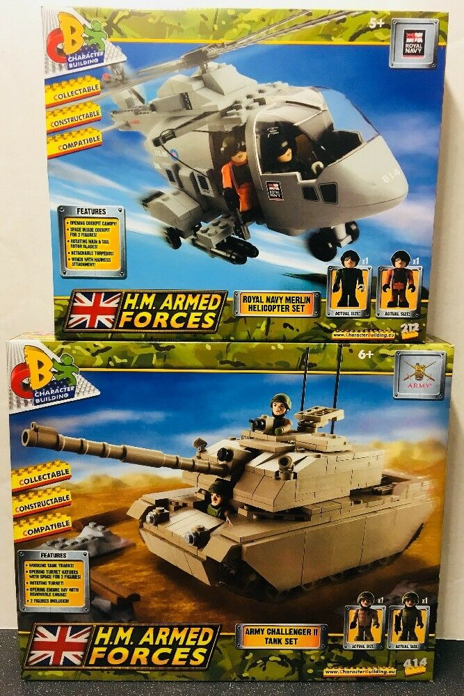 H.M. forze armate ROYAL NAVY MERLIN Elicottero Set & Challenger II Serbatoio Set