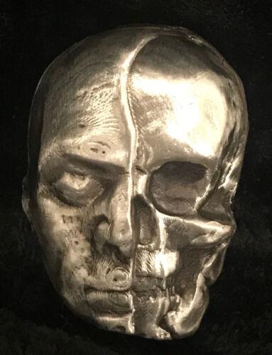 "1.75 tr//oz MK BarZ  /""Half Dead-1//2 Man /& Skull/"" .999 fine silver"