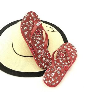 8b2b5001ed0a Image is loading Coach-Women-s-Abbigail-Red-Flip-Flops-Sandals-