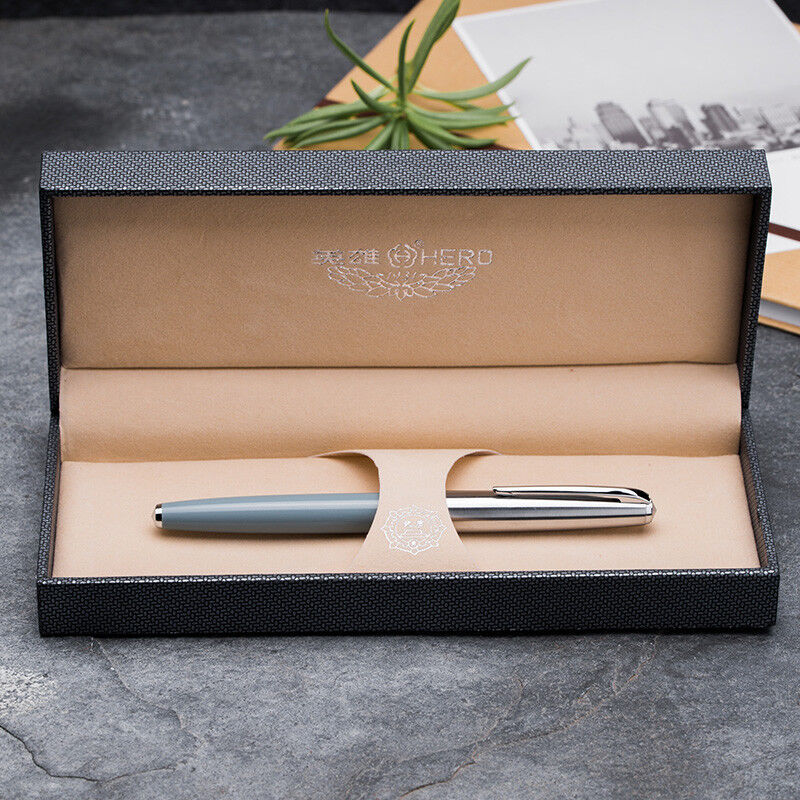 Hero 100 100 100 14K Gold Classic Füllfederhalter Authentic Quality Writing Geschenkset | Online Kaufen