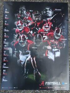 2017 Alabama Crimson Tide Football Schedule Poster Jalen Hurts