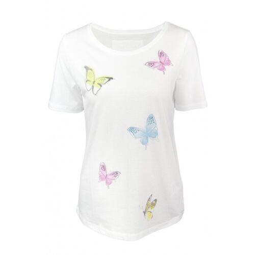 Shirt Schmetterlinge white Shirts von six-o-seven Weiß Typ Farbe