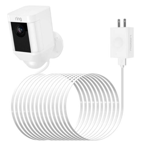 Power Cable Adapter for Ring Spotlight Cam Battery HD Security Camera (20ft/6m)