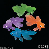 144 Luau Tiki Party Favors Cupcake Toppers Table Scatters Mini Colorful Goldfish