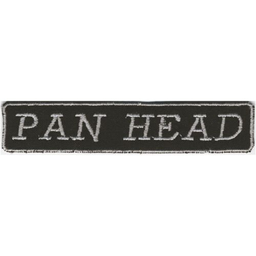 Aufnaeher Patches Applikation Biker Aufnaehwappen 10 x 2 cm Pan Head 03182