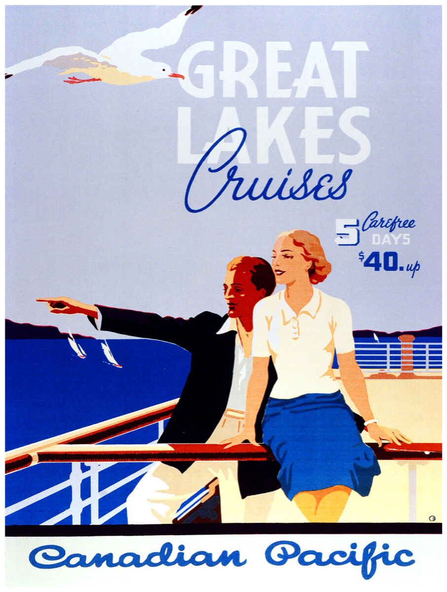 16x20 poster on CANVAS.Interior design.Great Lakes Cruise.5 days  40.6999
