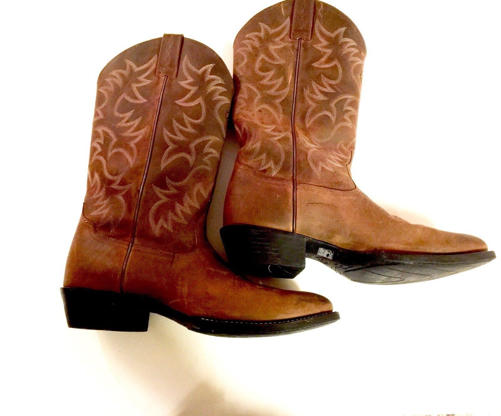 Ariat Ariat Ariat Uomo Heritage R Toe Cowboy Stivali Distressed Brown Size 12 D Worn Twice 7fdaf7