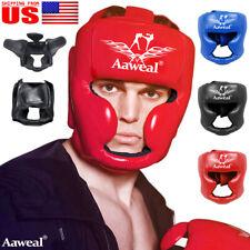 Kids Adult Headgear Head Guard Headgear Helmet Training Kick Boxing Face Protect