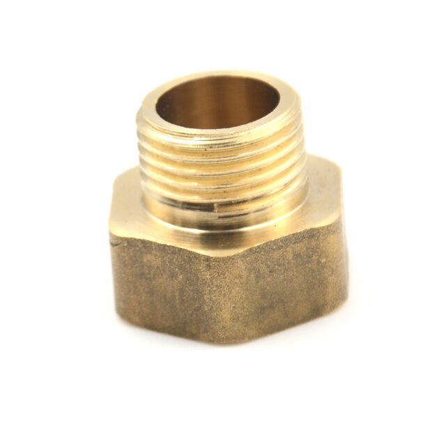 1/2PT Male to 3/4PT Female Thread Brass Hose Pipe Hex Bushing Reducer Fitting JR