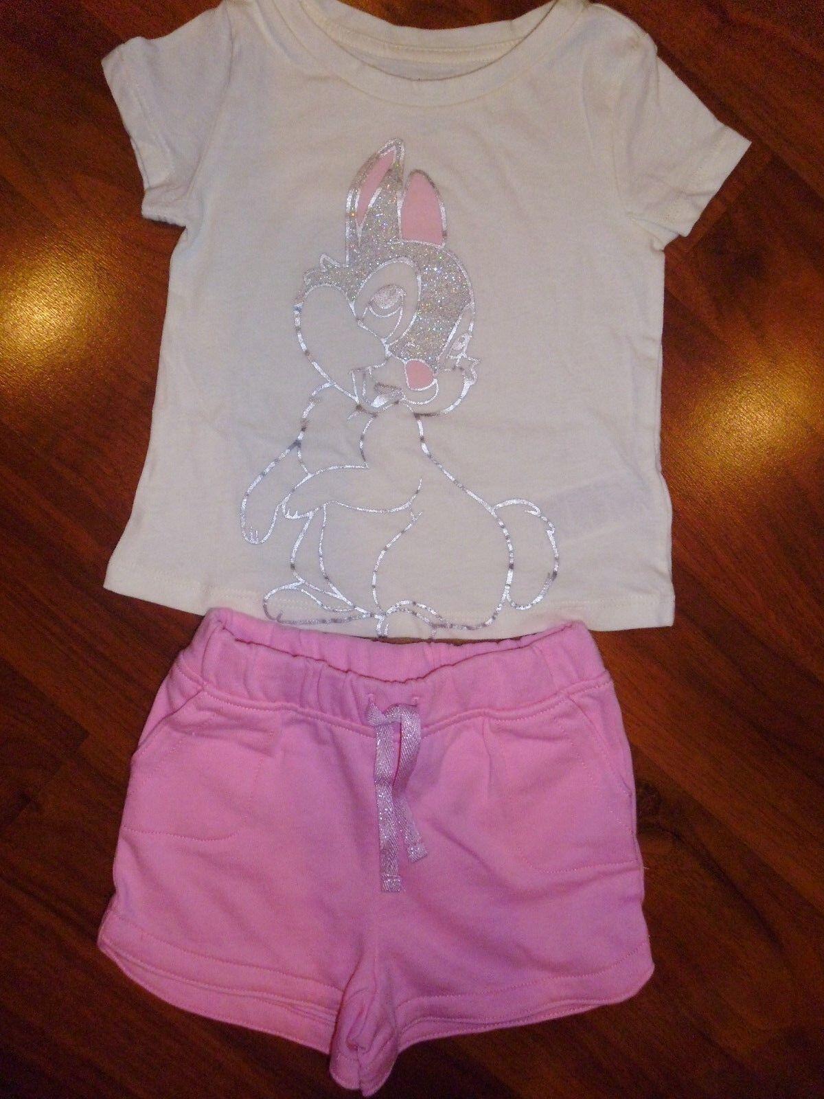 Disney Sleep Tight BAMBI Pink PJ/'s NWT