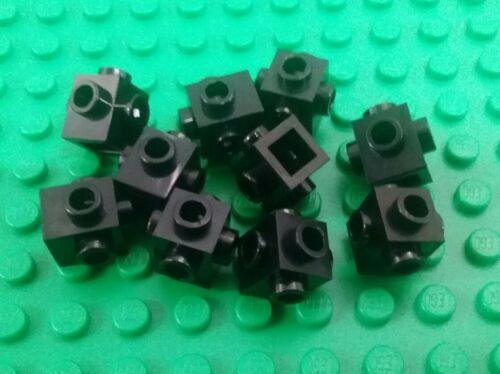10 pieces *NEW* Lego Black Bricks 1x1 Stud Tall w Studs all Sides Bricks