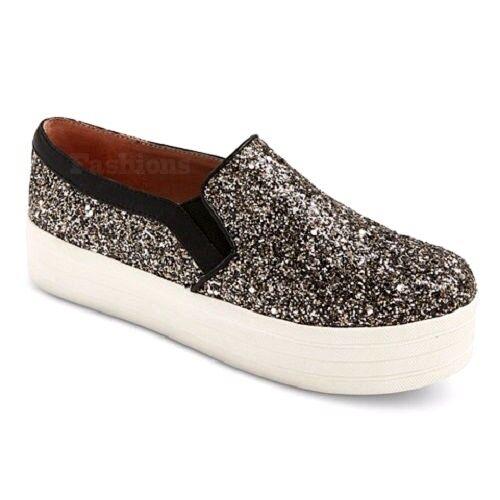 Mossimo Zola Metallic Glitter Sneakers Shoes NWOB A133