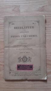 E. Wiedemann - Beiblatter Zu Den Annalen Der Physik Und Chemie - 1891 - N°1