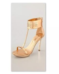 BCBGMAXAZRIA-Phoenix-Leather-T-Strap-Open-Toe-Platform-Heels-Size-9