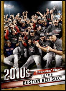 Boston-Red-Sox-2020-Topps-Decades-Best-5x7-Gold-DB-81-10-Red-Sox