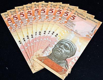 P  90a Prefix J  Uncirculated Banknotes VENEZUELA 10  BOLIVARES  2007