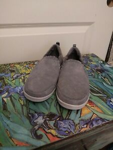 Skechers Suede Ruffle Slip-On Shoes