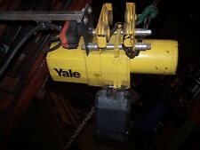 Yale 1 Ton Electric Chain Hoist 20 Lift 460 Vac With Trolley Vjl1 20pt16s1