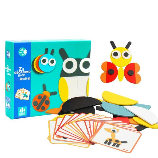 Creative 3D Wooden Jigsaw Puzzle Set Kids Baby Educational Montessori Toys Gifts