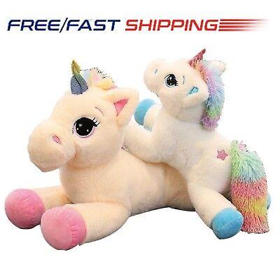 NEW Giant Plush Jumbo Large Unicorn Toys Stuffed Animal Doll 40CM 60CM Size UK